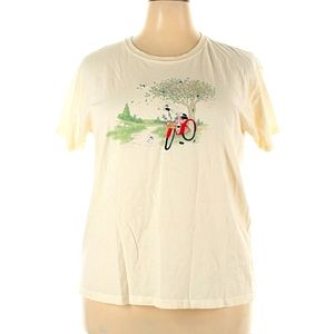 Modcloth Embroidered Bicycle T-shirt
